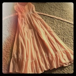 Gunner Sax Pink and White Prairie Dress